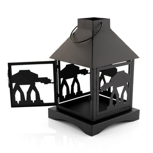 Star Wars Black Stamped Lantern | Imperial AT-AT Walker | 12 Inches Tall
