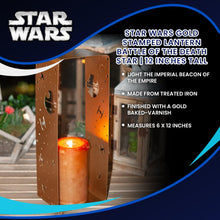 Load image into Gallery viewer, Star Wars Gold Stamped Lantern | Battle Of The Death Star | 12 Inches Tall