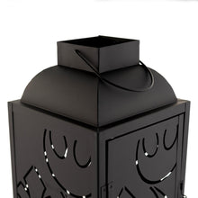Load image into Gallery viewer, Star Wars Black Stamped Lantern | Rebel Insignia Pattern | 14 Inches Tall