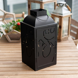 Star Wars Black Stamped Lantern | Rebel Insignia Pattern | 14 Inches Tall