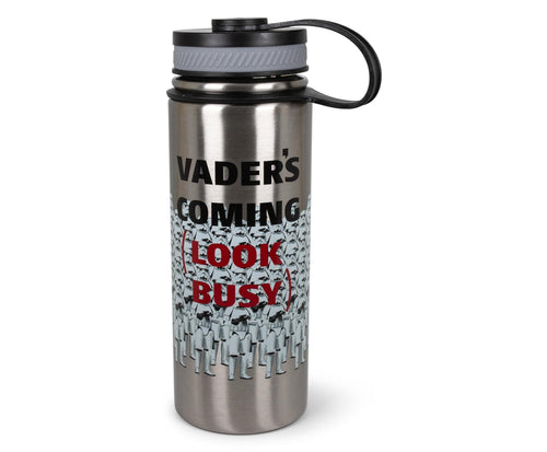 Star Wars Stormtroopers Vader Coming Look Busy 18oz Canteen