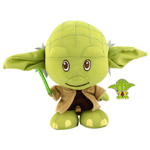 Star Wars Yoda Stylized Plush Character And Enamel Pin | Measures 7 Inches Tall