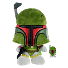 Load image into Gallery viewer, Star Wars Boba Fett Stylized 7 Inch Plush With Enamel Pin