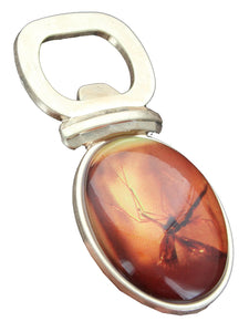 "Jurassic Park Mosquito In Amber Bottle Opener - 3.5"" x 1.8"" Resin & Metal"