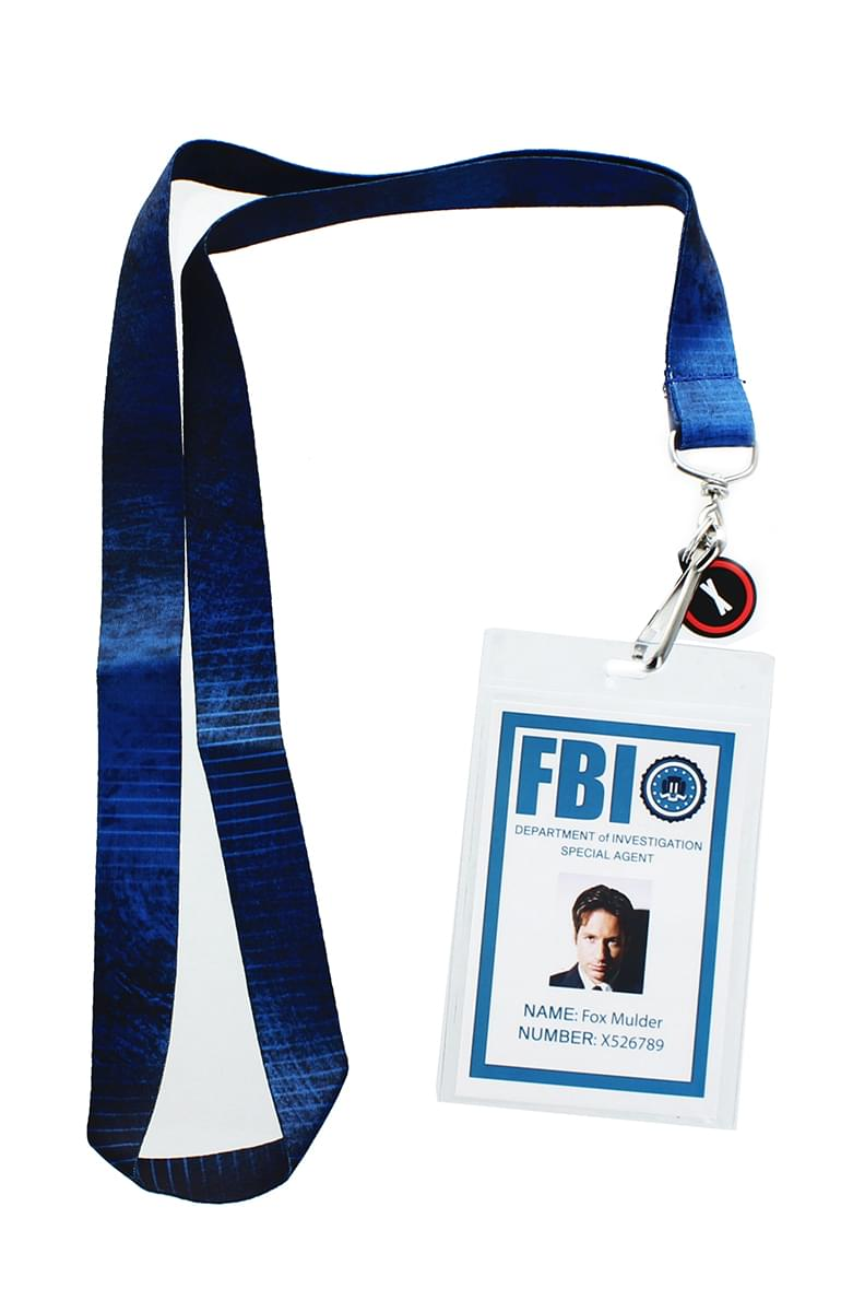 The X-Files Fox Mulder ID Lanyard with Charm