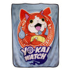 Yo-Kai Watch Jibanyan Lightweight Fleece Throw Blanket | 50 x 60 Inches