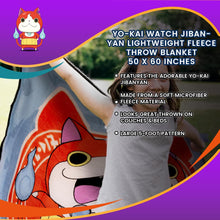 Load image into Gallery viewer, Yo-Kai Watch Jibanyan Lightweight Fleece Throw Blanket | 50 x 60 Inches