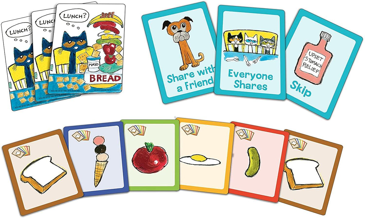 Pete the Cat Big Lunch Kids Card Game | For 2-4 Players