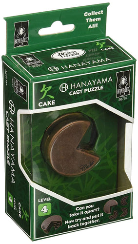 Hanayama Level 4 Cast Metal Brain Teaser Puzzle - Cake