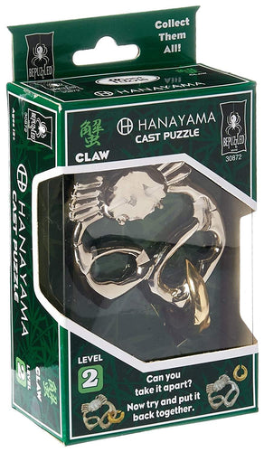 Hanayama Level 2 Cast Metal Brain Teaser Puzzle - Claw