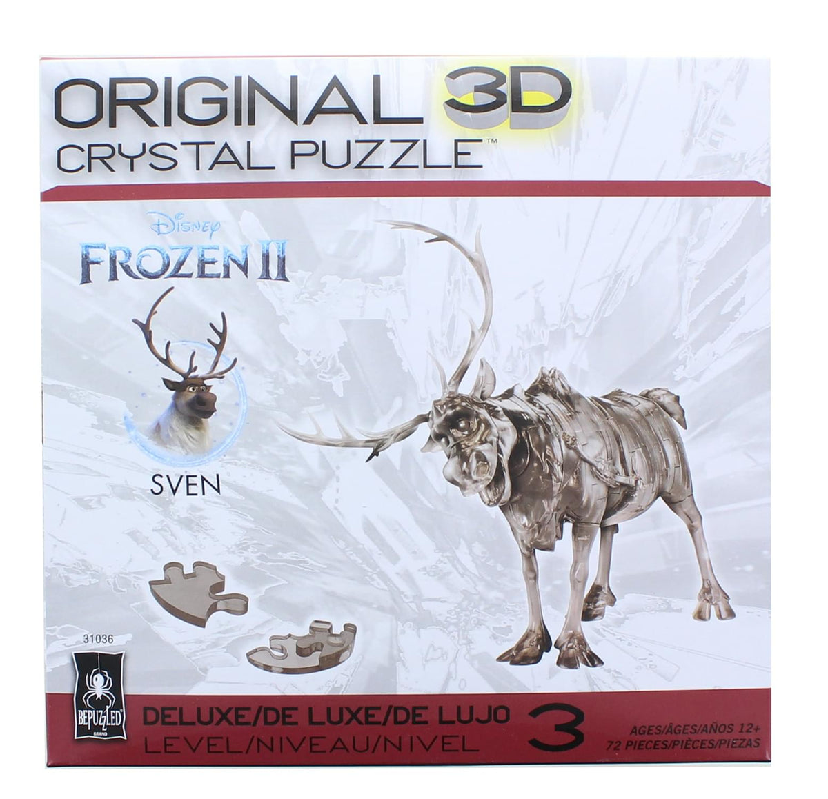 Frozen Sven 72 Piece 3D Crystal Jigsaw Puzzle