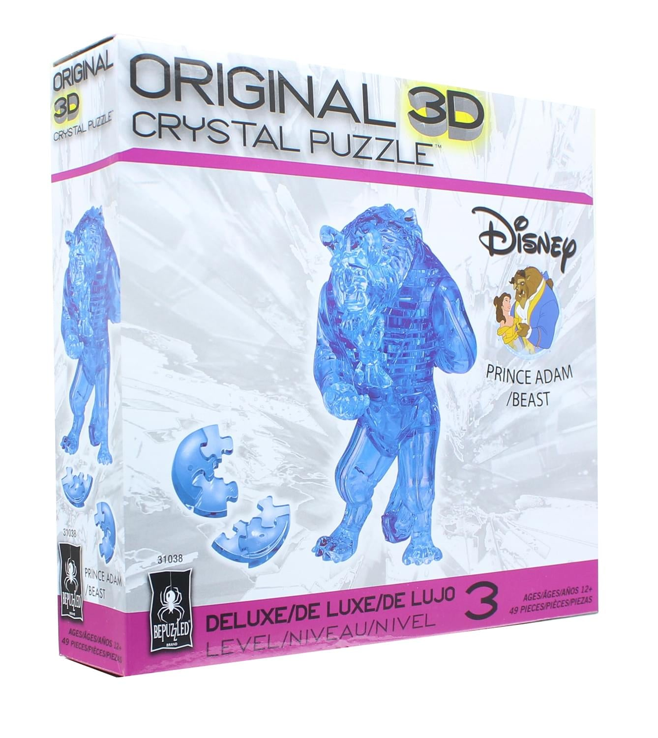 The Beast 49 Pieces University Games Bepuzzled 31038 Deluxe Disney 3D Crystal Puzzle