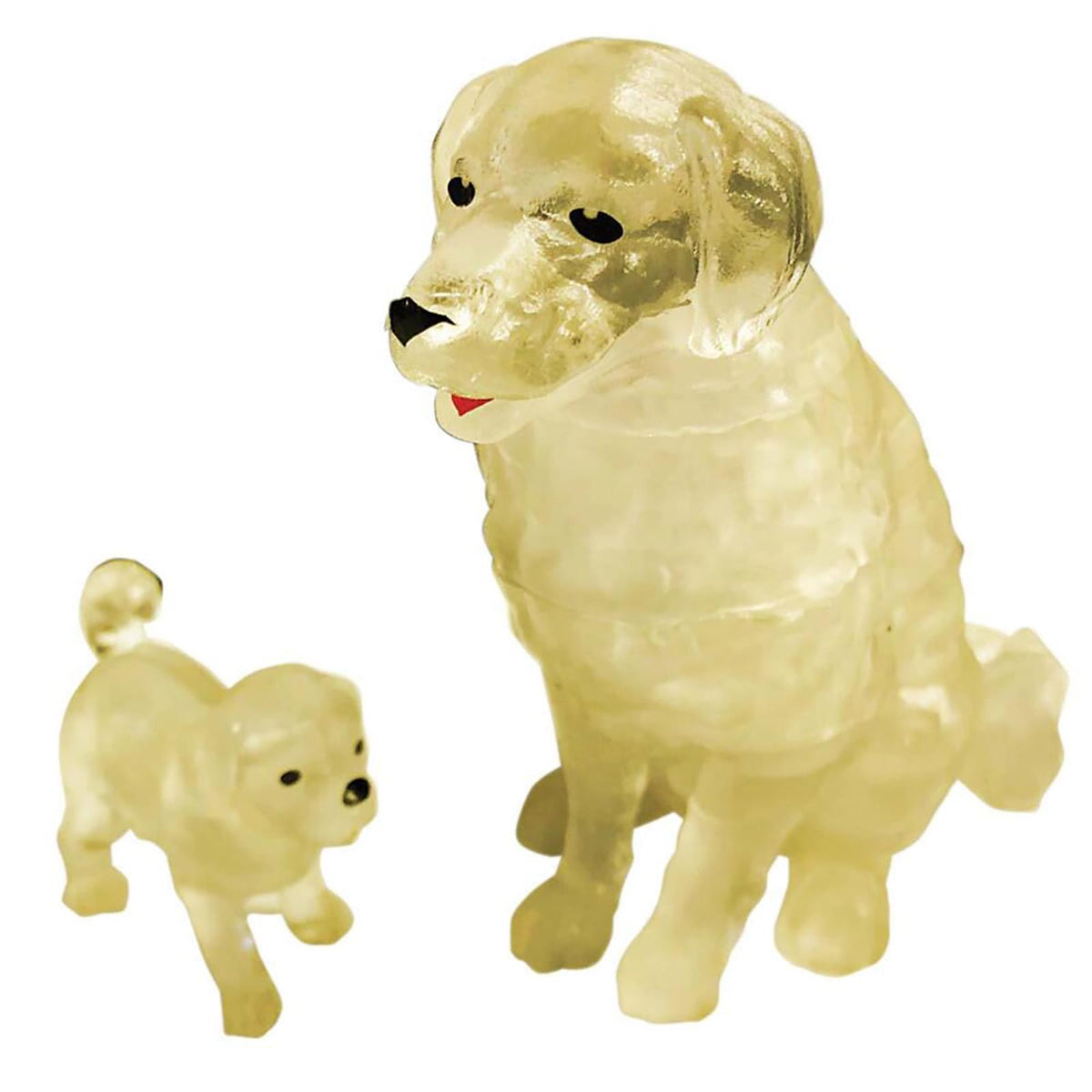 Dog and Puppy 47 Piece 3D Crystal Jigsaw Puzzle