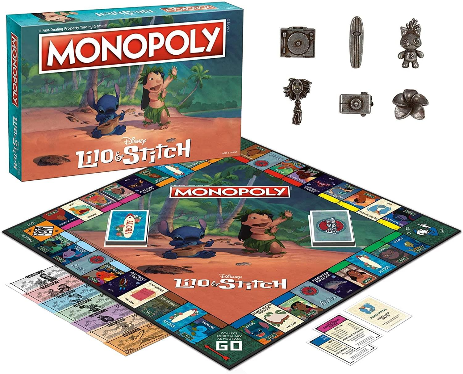 Disney Lilo & Stitch Monopoly Board Game | For 2-6 Players