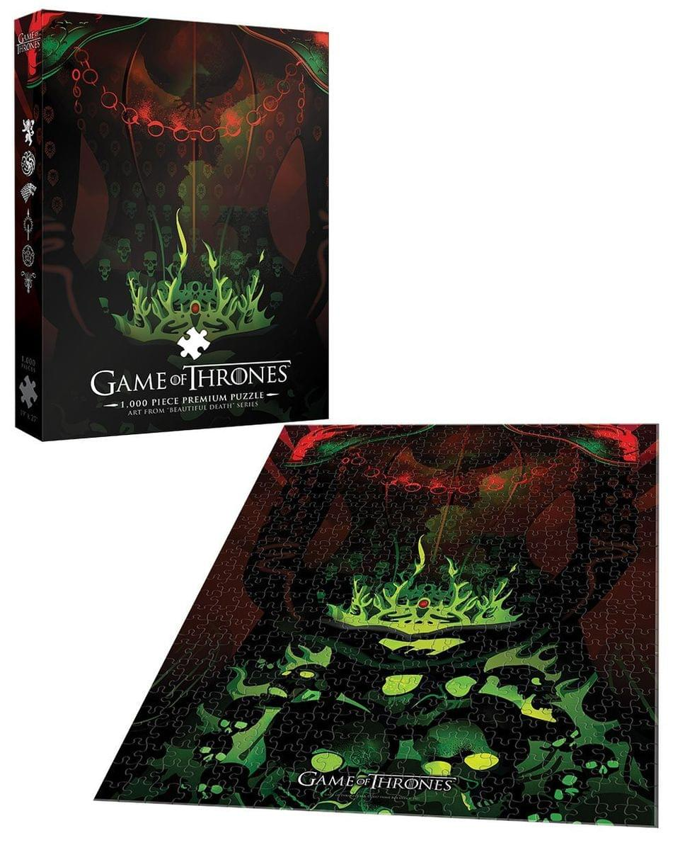 FREE S//H Game Of Thrones Long May She Reign LOT OF 2 Puzzle 1000 Pc Dracarys