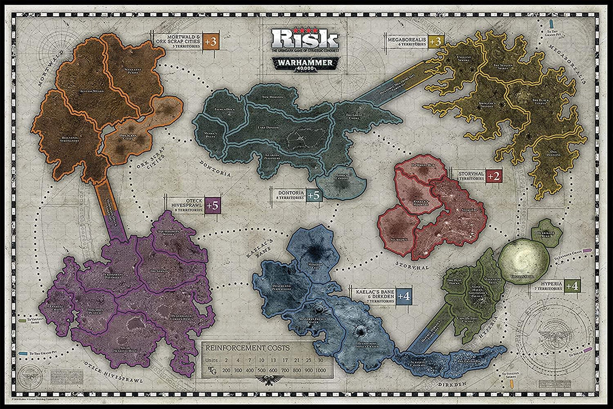 Risk Warhammer 40,000 Board Game | For 3-5 Players