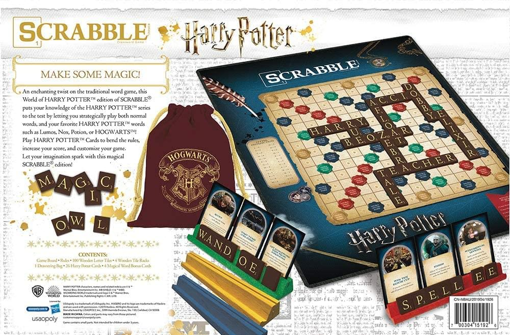 World of Harry Potter Scrabble Board Game | For 2-4 Players