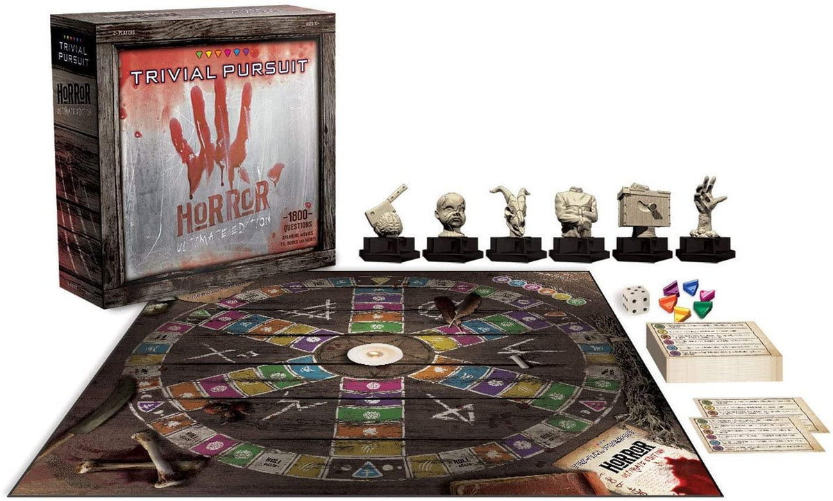 Horror Movie Ultimate Edition Trivial Pursuit Board Game | For 2+ Players