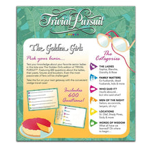 Load image into Gallery viewer, The Golden Girls Trivial Pursuit Board Game