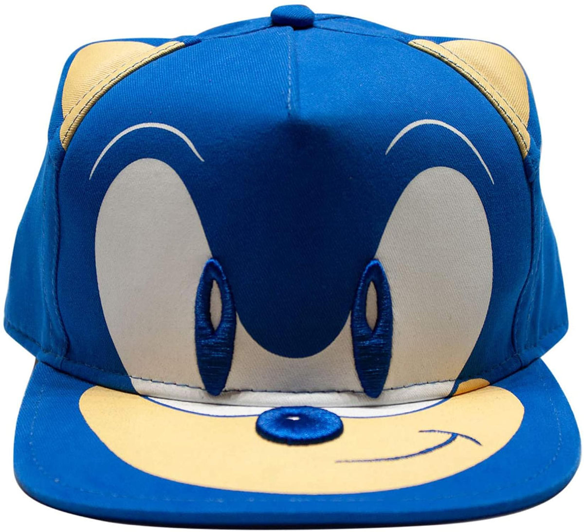 Sonic the Hedgehog Embroidered Face Snapback Hat | One Size