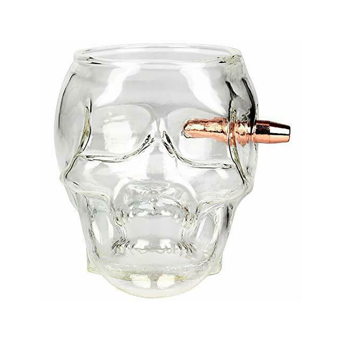 Last Man Standing | Embedded Bullet 7oz Skull Glass
