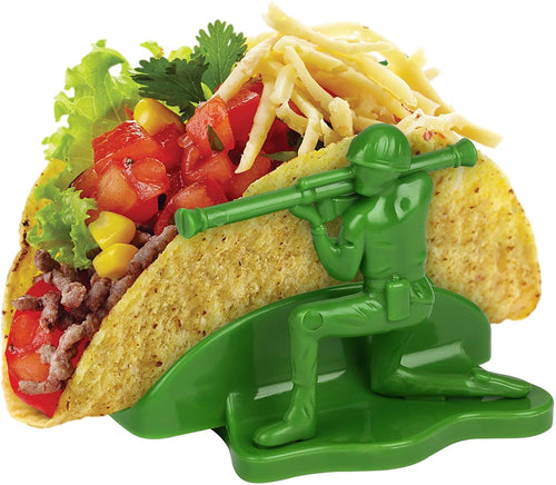 Liberty Sculpted Little Green Army Men Taco & Snack Holder