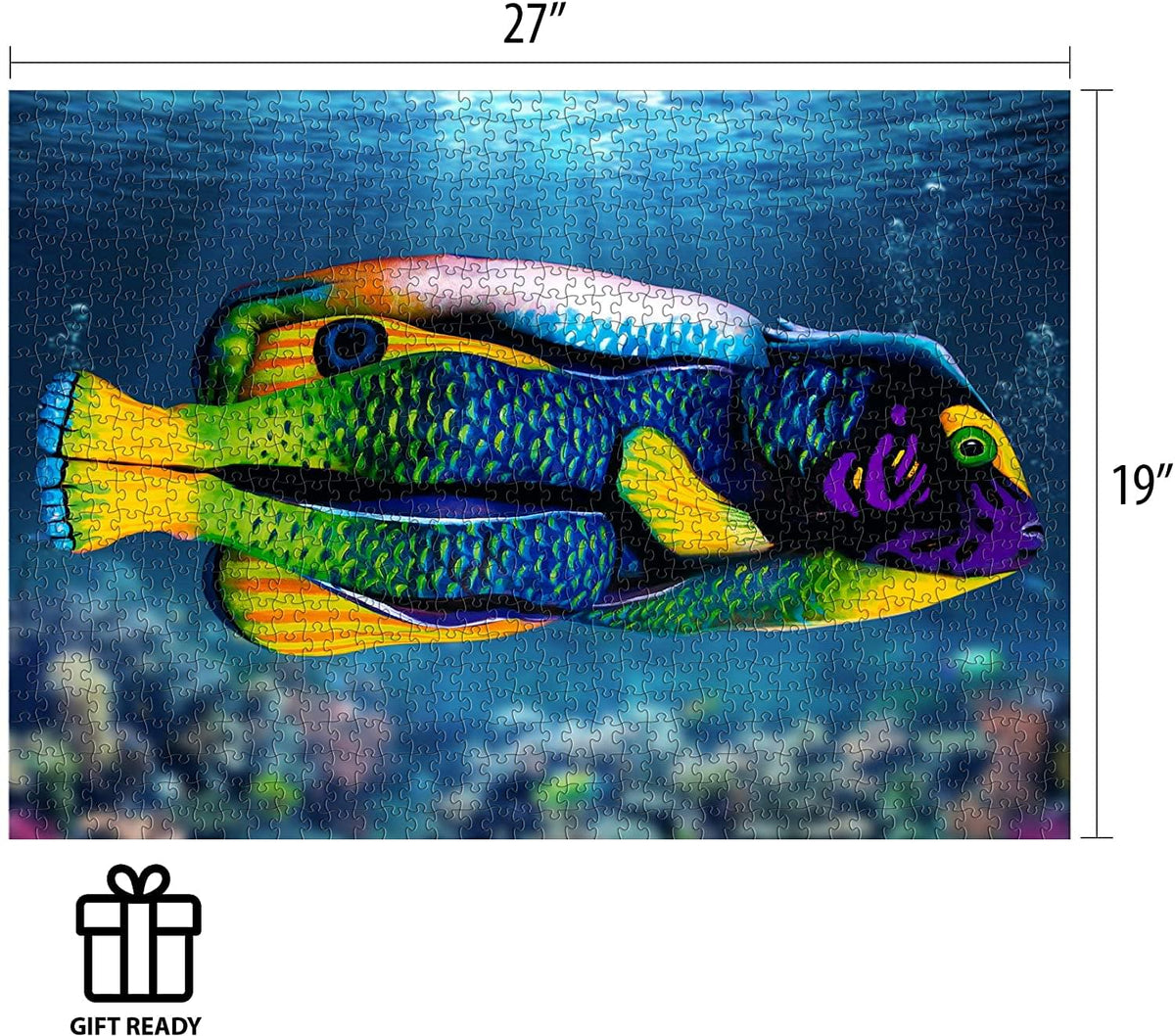 Johannes Stotter Angel Fish Body Art 1000 Piece Jigsaw Puzzle