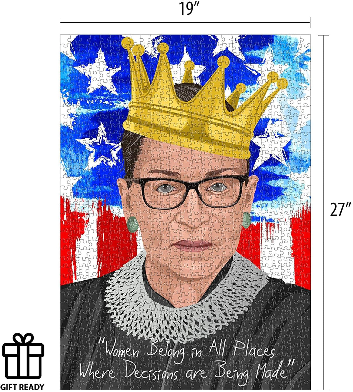 Ruth Bader Ginsburg 1000 Piece Jigsaw Puzzle