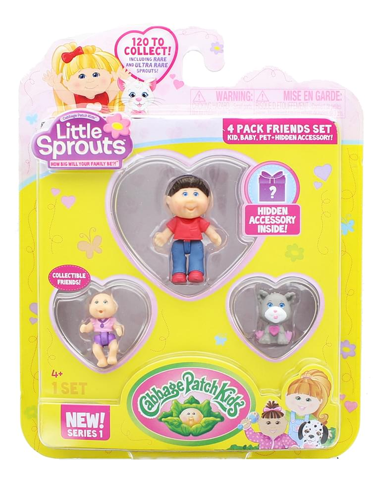 Little Sprouts 4-Pack Friends Set w/ Michael Jay, Harlow Elizabeth & Hammy