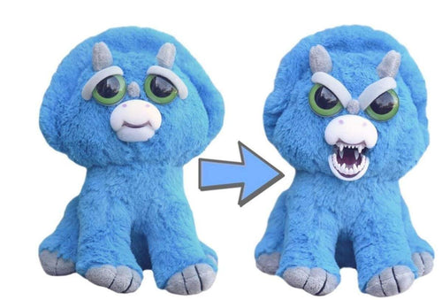 Feisty Pets Brainless Brian Triceratops Plush