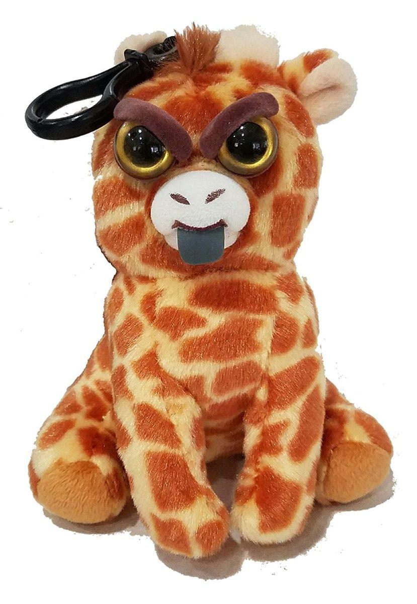Feisty Pets Scrappy Savannah Giraffe Tongue Out Plush Key Chain