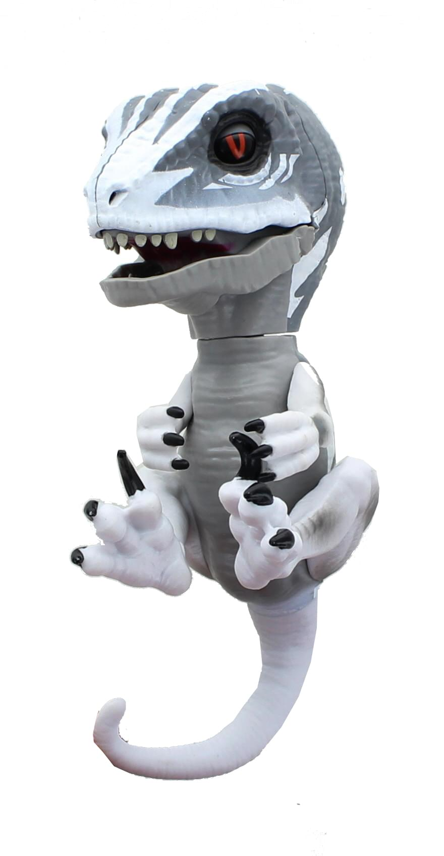 Fingerlings Untamed Raptor Interactive Collectible Dinosaur - Gray Ghost