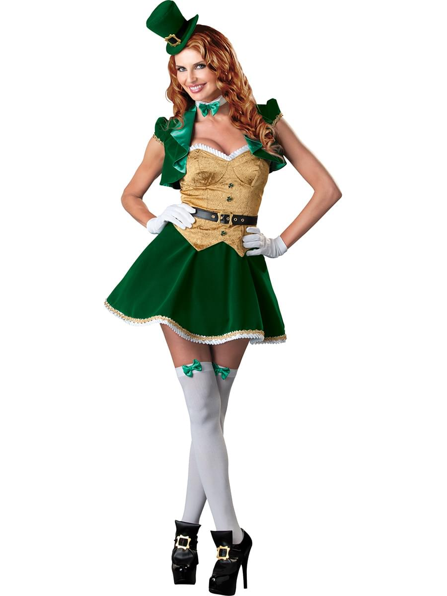 St. Patrick's Sexy Lucky Lass Costume Dress Adult X-Large