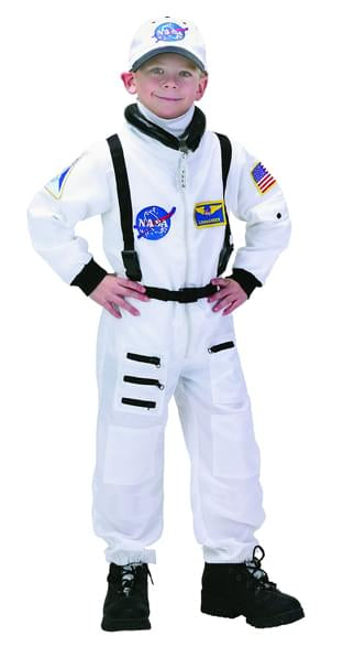 Jr Astronaut Suit (White) W/Cap Child Costume