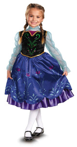 Disney Frozen Deluxe Anna Costume Child Toddler X-Small (3T-4T)