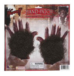 Brown Hairy Werewolf Patches For Hands Adult Costume Accessory