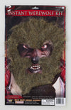 Instant Werewolf Brown Facial Hair Kit Costume Accessory