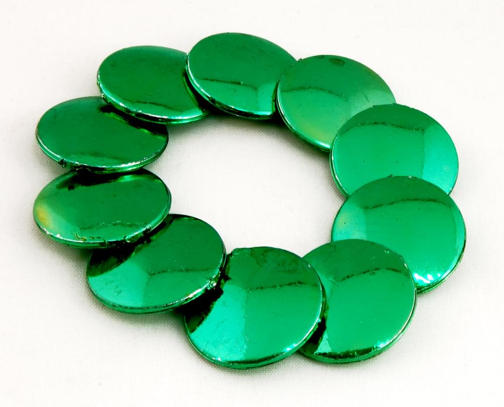 Luck 'O The Irish Green Discs Bead Bracelet