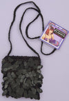 Sequin Flapper Costume Hand Bag Black