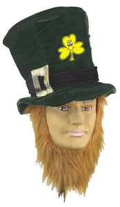 St Patricks Day Irish Costume Hat With Beard