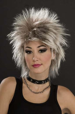 80's Punk Rock Idol - Mixed Blonde Costume Wig