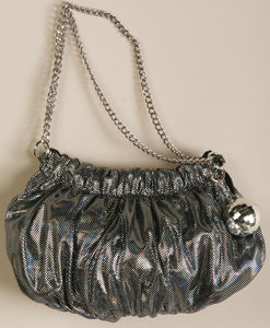 70's Silver Disco Costume Handbag Purse