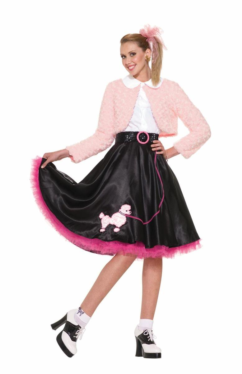 4323193ab8a39 50 s Sweetheart Deluxe Poodle Skirt Costume Set Adult - Toynk Toys