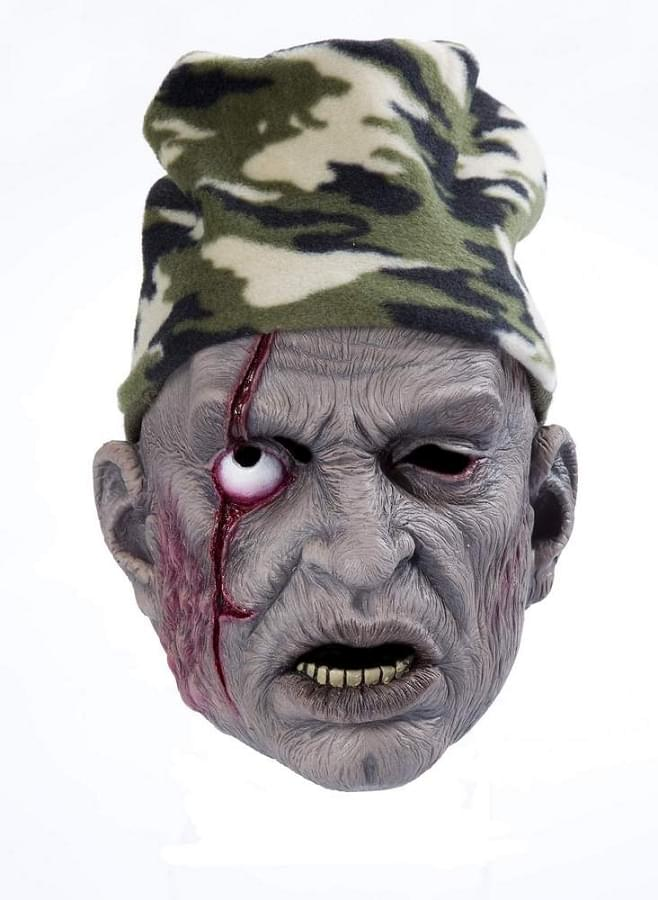 Zombie Costume Mask W/Hat Hunter