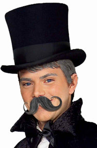 Synthetic Warrior Black Handlebar Moustache Costume Accessory