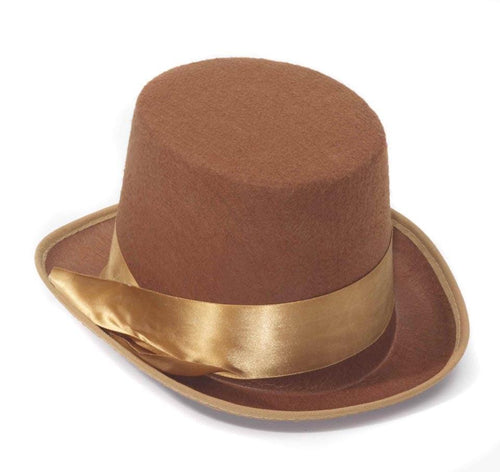 Steampunk Brown Bell Topper Adult Costume Hat