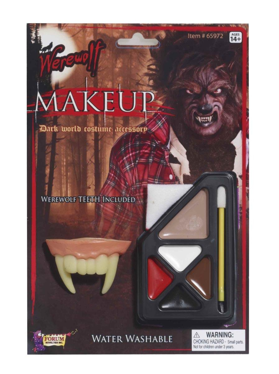 Werewolf Costume Make Up Accessory Kit w/Fangs