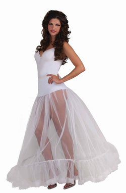 White Adult Ballroom Length Costume Crinoline Slip OneSizeFitsMost