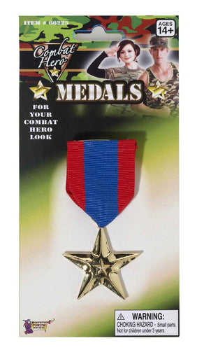 Single Combat Hero Army Medal Costume Accessory