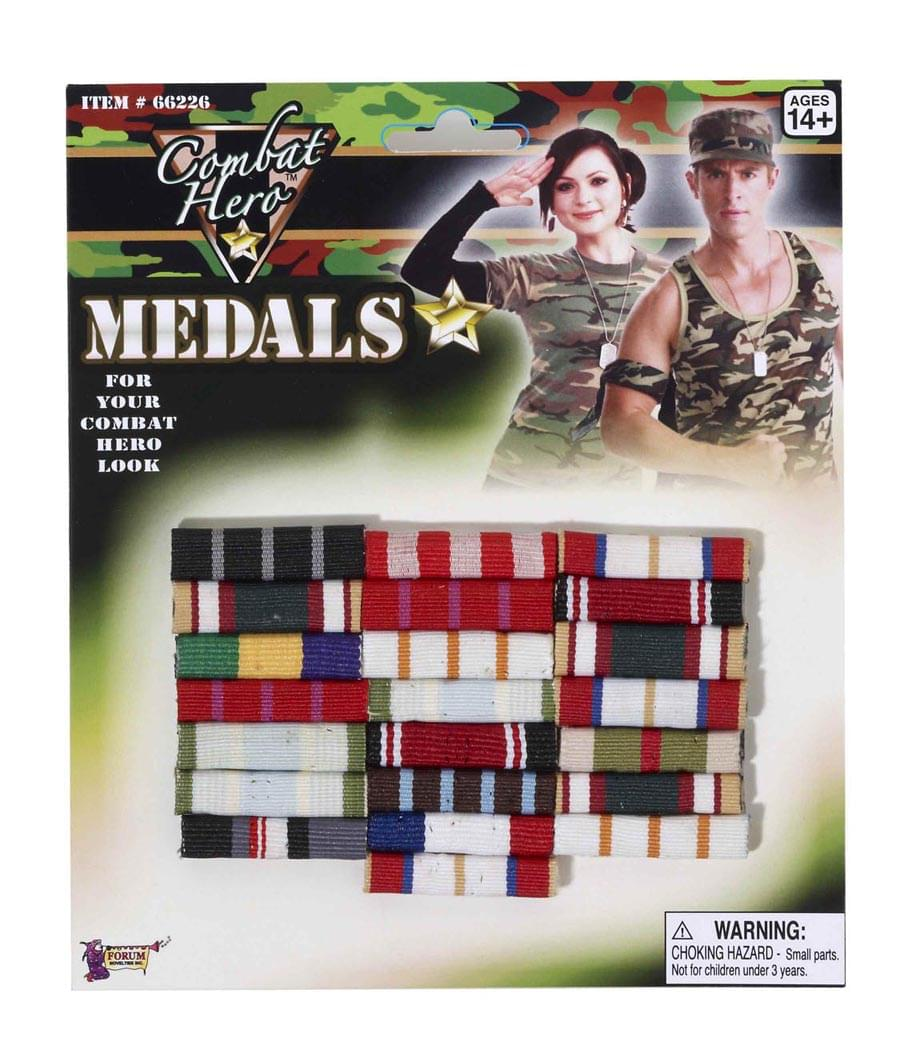 Combat Hero Army Medals Costume Accessory